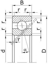 Подшипник 6-46207 Е (7207 ACD/P6)
